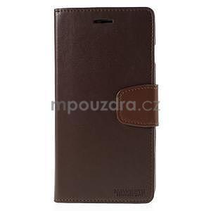 Peňaženkové puzdro pre iPhone 6 Plus a 6s Plus - hnedé - 2