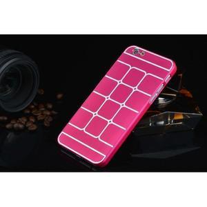 Štýlový kryt s kovovými chrbtom pre iPhone 6 Plus a 6s Plus - rose - 2