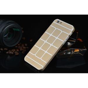 Štýlový kryt s kovovými chrbtom pre iPhone 6 Plus a 6s Plus - champagne - 2