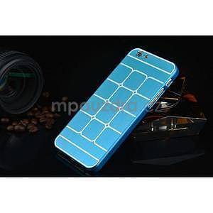 Štýlový kryt s kovovými chrbtom pre iPhone 6 Plus a 6s Plus -  modrý - 2