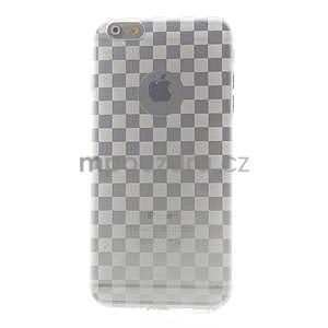 Transparentný kockovaný gélový obal na iPhone 6 Plus a 6s Plus - 2