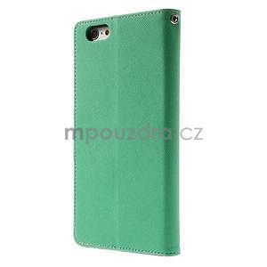 Peňaženkové puzdro pre iPhone 6 Plus a 6s Plus - azurové - 2