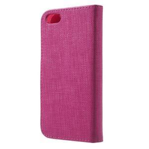 Cloth PU kožené puzdro pre iPhone SE / 5s / 5 - rose - 2