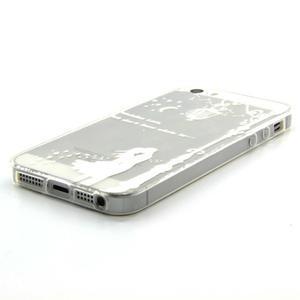 Transparentný gélový obal pre mobil iPhone SE / 5s / 5 - láska pod lampou - 2