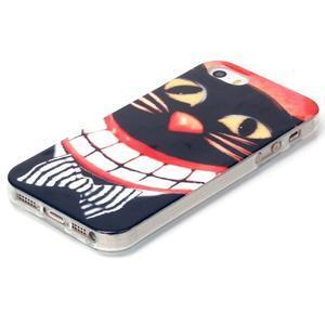 gélový obal pre mobil iPhone SE / 5s / 5 - mačka - 2