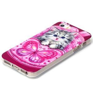 gélový obal pre mobil iPhone SE / 5s / 5 - mačiatko - 2