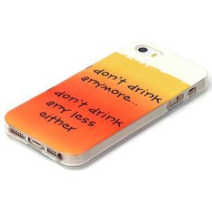 gélový obal pre mobil iPhone SE / 5s / 5 - drink - 2