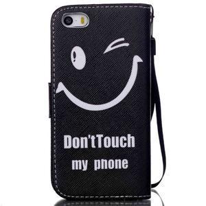 Peňaženkové puzdro pre mobil iPhone SE / 5s / 5 - nedotýkať sa - 2