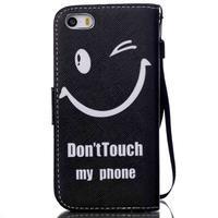 Peňaženkové puzdro pre mobil iPhone SE / 5s / 5 - nedotýkať sa - 2/7