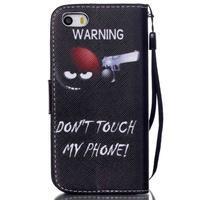Peňaženkové puzdro pre mobil iPhone SE / 5s / 5 - nesiaha - 2/7