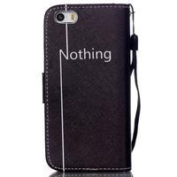 Peňaženkové puzdro pre mobil iPhone SE / 5s / 5 - nothing - 2/7