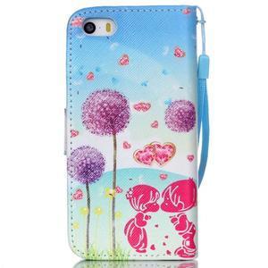 Peňaženkové puzdro pre mobil iPhone SE / 5s / 5 - púpavy - 2