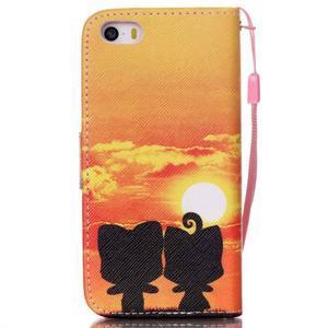 Peňaženkové puzdro pre mobil iPhone SE / 5s / 5 - zapadajúce slnko - 2