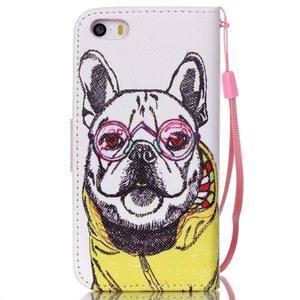 Peňaženkové puzdro pre mobil iPhone SE / 5s / 5 - buldog - 2