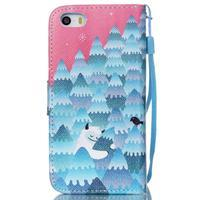Peňaženkové puzdro pre mobil iPhone SE / 5s / 5 - snežný muž - 2/7