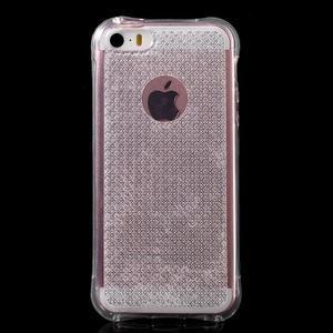 Diamnods gelový obal se silným obvodem na iPhone SE / 5s / 5 - transparentní - 2