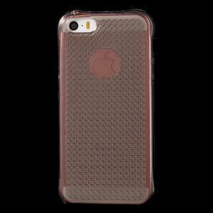 Diamonds gélový obal se silným obvodom na iPhone SE / 5s / 5 - sivý - 2