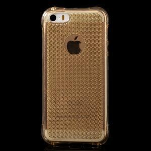 Diamnods gelový obal se silným obvodem na iPhone SE / 5s / 5 - zlatý - 2