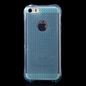 Diamnods gelový obal se silným obvodem na iPhone SE / 5s / 5 - modrý - 2