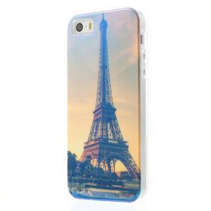 Blueray gelový obal s odlesky na iPhone SE / 5s / 5 - Eiffelova věž - 2