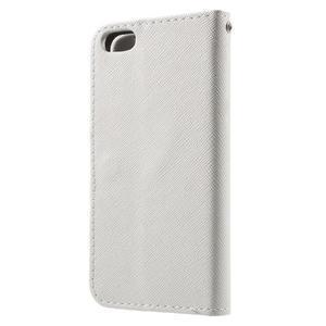 Cross PU kožené puzdro pre iPhone SE / 5s / 5 - biele - 2