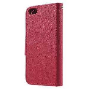 Cross PU kožené pouzdro na iPhone SE / 5s / 5 - červené - 2