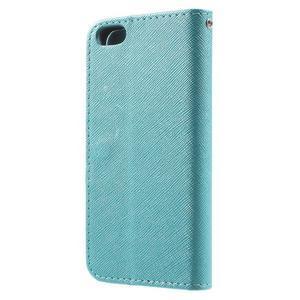Cross PU kožené pouzdro na iPhone SE / 5s / 5 - modré - 2