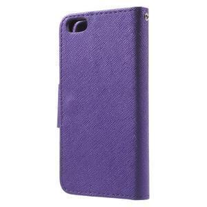 Cross PU kožené pouzdro na iPhone SE / 5s / 5 - fialové - 2