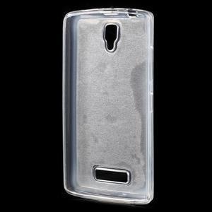 Povrchově třpytivý gelový obal na mobil Lenovo A2010 - stříbrný - 2