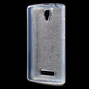 Povrchove trblietavý gélový obal pre mobil Lenovo A2010 - šedý - 2