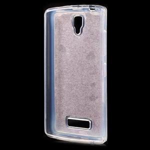 Povrchově třpytivý gelový obal na mobil Lenovo A2010 - rose - 2