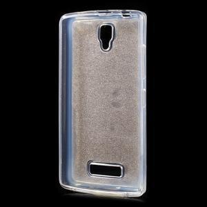 Povrchove trblietavý gélový obal pre mobil Lenovo A2010 - zlatý - 2