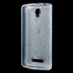 Povrchově třpytivý gelový obal na mobil Lenovo A2010 - světlemodrý - 2