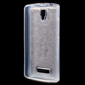Povrchově třpytivý gelový obal na mobil Lenovo A2010 - fialový - 2