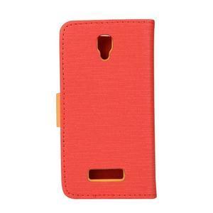 Clothy PU kožené na mobil Lenovo A2010 - červené - 2