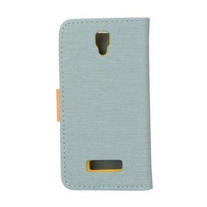Clothy PU kožené na mobil Lenovo A2010 - světlemodré - 2