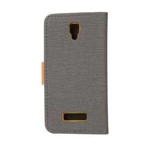 Clothy PU kožené pre mobil Lenovo A2010 - šedé - 2