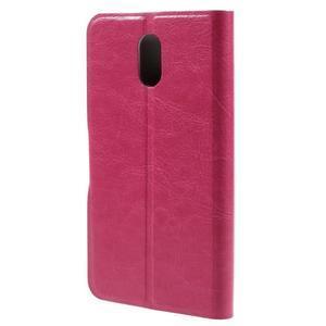 Horse peňaženkové puzdro pre Lenovo Vibe P1m - rose - 2