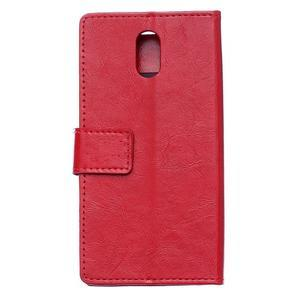 GX koženkové peňaženkové na mobil Lenovo Vibe P1m - červené - 2