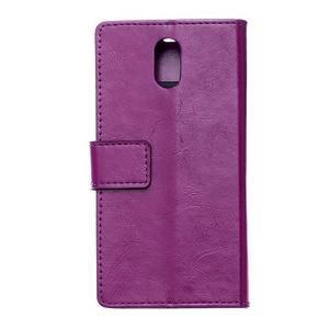 GX koženkové peňaženkové na mobil Lenovo Vibe P1m - fialové - 2