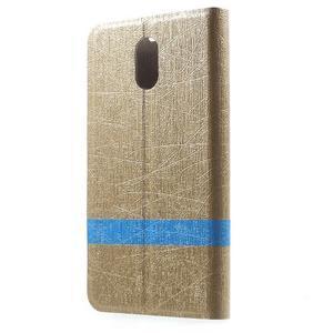 Klopové puzdro pre mobil Lenovo Vibe P1m - zlaté - 2