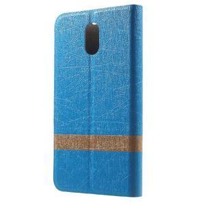 Klopové puzdro pre mobil Lenovo Vibe P1m - svetlo modré - 2