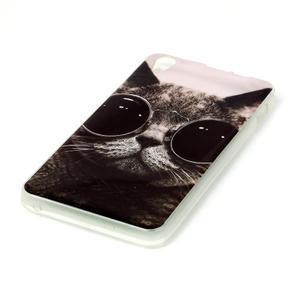 Softy gelový obal na mobil Lenovo S850 - cool kočka - 2