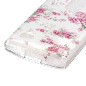 Jelly gelový obal na mobil LG Leon - květiny - 2