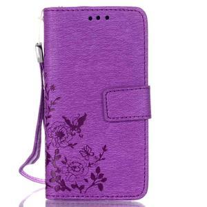 Magicfly pouzdro na mobil LG Leon - fialové - 2