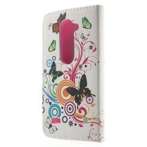 Emotive knížkové puzdro pre mobil LG Leon - motýľe - 2
