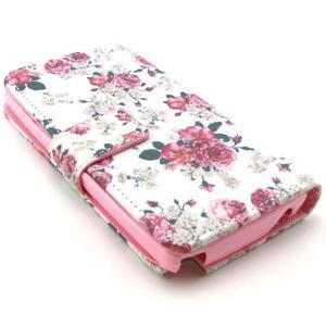 Style peňaženkové puzdro pre LG Leon - kvetiny - 2
