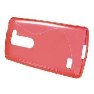 S-line gelový obal na mobil LG Leon - červený - 2