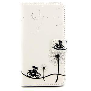 Peňaženkové PU kožené puzdro pre LG Leon - láska na bicykli - 2