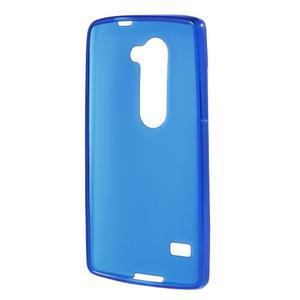 Matný gelový obal na mobil LG Leon - modrý - 2